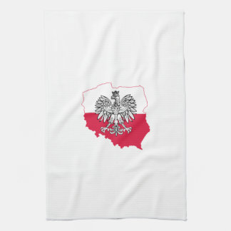Polish Map Flag Kitchen Towel