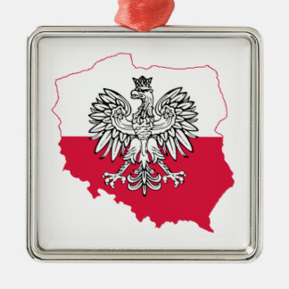Polish Map Flag Premium Ornament