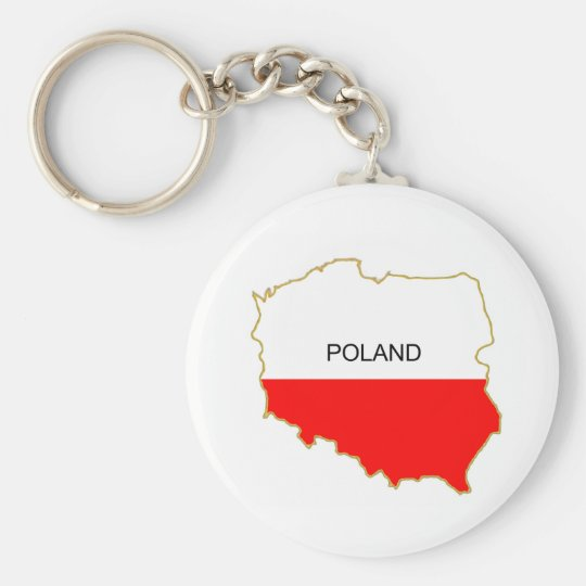 Polish Map png Basic Round Button Key Ring