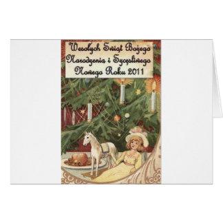 POLISH MERRY CHRISTMAS WESOLYCH SWIAT CARD