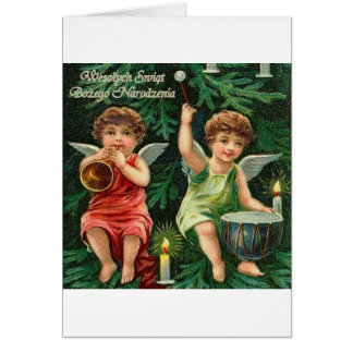 POLISH MERRY CHRISTMAS WESOLYCH SWIAT GREETING CARDS