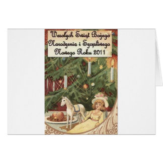 POLISH MERRY CHRISTMAS WESOLYCH SWIAT GREETING CARD