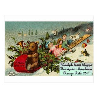 POLISH MERRY CHRISTMAS WESOLYCH SWIAT POSTCARD
