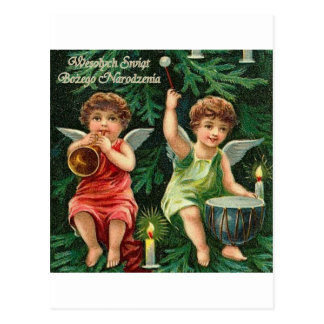 POLISH MERRY CHRISTMAS WESOLYCH SWIAT POSTCARD