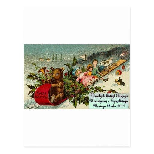 POLISH MERRY CHRISTMAS WESOLYCH SWIAT POSTCARDS