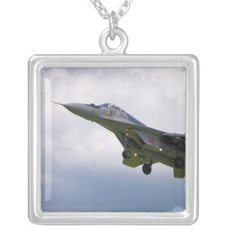 Polish MiG-29 version 9.12A from Base in Malbork Silver Plated Necklace