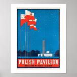 Polish Pavilion  NY World's Fair, 1938 Vintage Poster