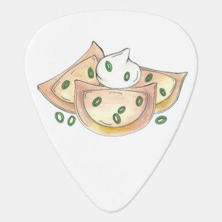 Polish Pierogies Foodie Green Onion Dumplings Food Guitar Pick