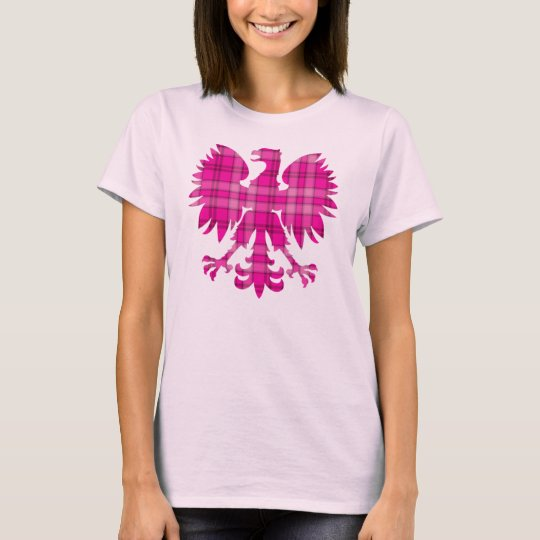 Polish Pink Plaid Eagle T-Shirt