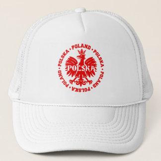 Polish Polska Eagle Emblem Trucker Hat