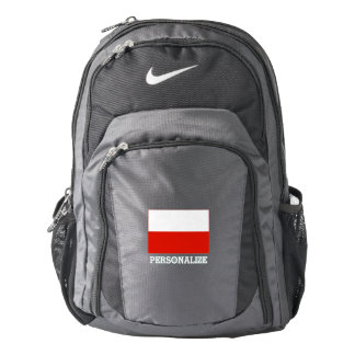 Polish pride flag of Poland personalized Backpack