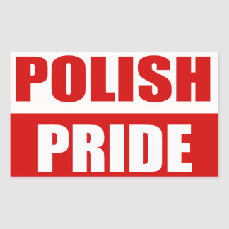 Polish Pride Rectangular Sticker