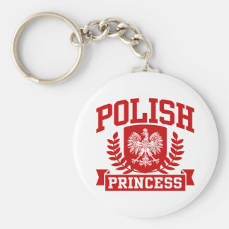 Polish Princess Basic Round Button Key Ring