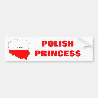 POLISH PRINCESS BUMPER STICKER