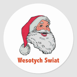 Polish Santa Classic Round Sticker