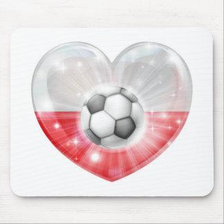 Polish soccer heart flag mousemat