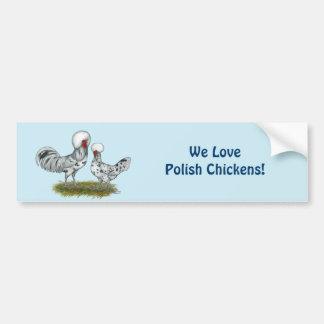 Polish Splash Chickens Car Bumper Sticker