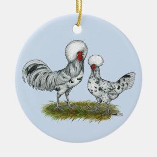 Polish Splash Chickens Christmas Ornament