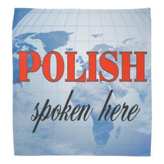 Polish spoken here cloudy earth kerchief