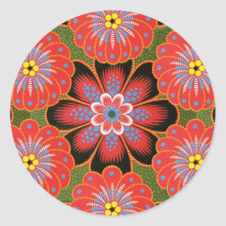 Polish Tole painting design Classic Round Sticker