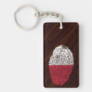 Polish touch fingerprint flag key ring