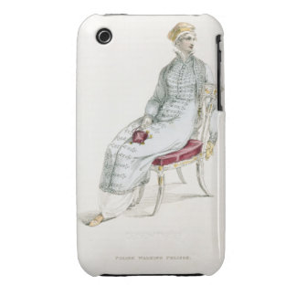 Polish walking pelisse, fashion plate from Ackerma iPhone 3 Cases