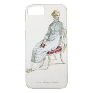 Polish walking pelisse, fashion plate from Ackerma iPhone 8/7 Case