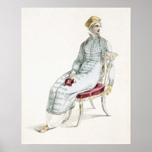 Polish walking pelisse, fashion plate from Ackerma Posters