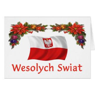 Polish Wesolych Swiat Greeting Card