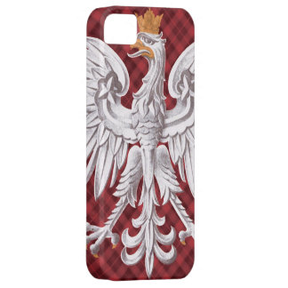 Polish White Eagle Plaid iPhone 5 Case-Mate Barely iPhone 5 Case