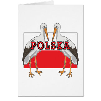 Polish White Stork Polska Card