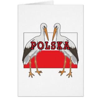 Polish White Stork Polska Greeting Card