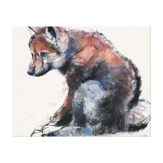 Polish Wolf Pup 2001 Canvas Print