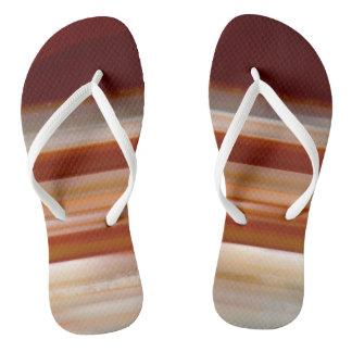 Polished Agate Slice Photo Flip Flops