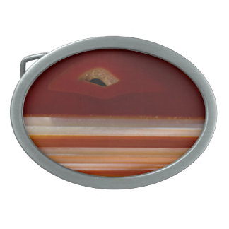 Polished Agate Slice Photo Oval Belt Buckle