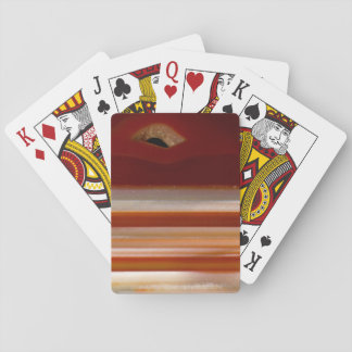 Polished Agate Slice Photo Playing Cards