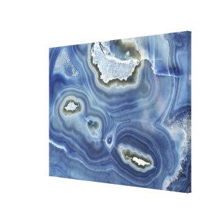Polished Amethyst Quartz Geode Face Canvas Print