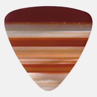 Polished Banded Agate Slice Photo Guitar Pick
