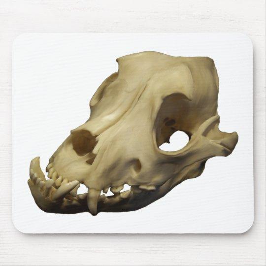 Polished Bulldog Canine Skull Mouse Mat