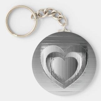 Polished chrome hearts keychains