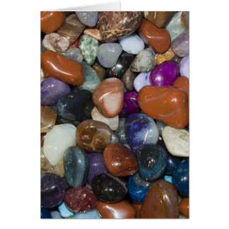 Polished Colourful Stones Greeting Card