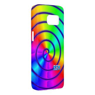 Polished rainbow monogram