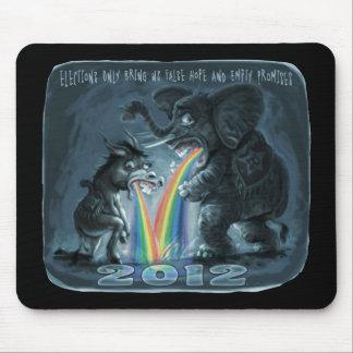 Political Animals Puking Rainbows Mousepad