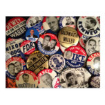 Political Buttons Post Cards
