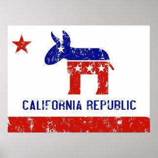 political california democrat distressed poster