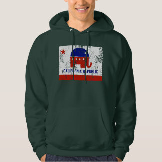 political california republic distressed hoodie