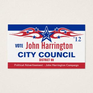 Political Campaign Card - City Council