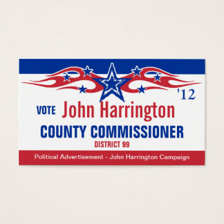 Political Campaign Card - County Commissioner