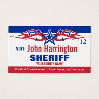 Political Campaign Card - Sheriff