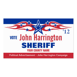 Political Campaign Card - Sheriff Business Cards